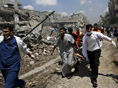 Gaza's bloodiest day as at least 100 Palestinians are killed:-