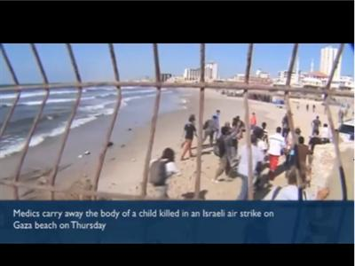 Witness to a shelling: first-hand account of deadly strike on Gaza port - Peter Beaumont in Gaza:-