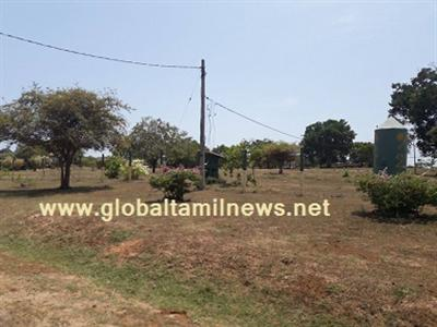Sinhala settlement is being set up in front of the Pulmoddai Military Camp!